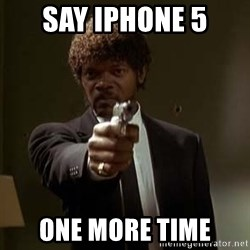Jules Pulp Fiction - say iphone 5  ONE MORE TIME