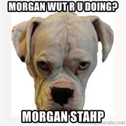 stahp guise - Morgan wut r u doing? morgan stahp