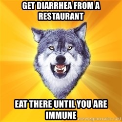 Courage Wolf - GET DIARRHEA FROM A RESTAURANT EAT THERE UNTIL YOU ARE IMMUNE