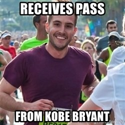 Incredibly photogenic guy - RECEIVES PAss FROM KOBE BRYant