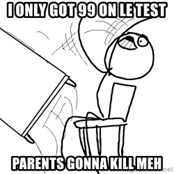 Desk Flip Rage Guy - I only got 99 on le test parents gonna kill meh