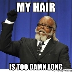 The tolerance is to damn high! - MY HAIR IS TOO DAMN LONG