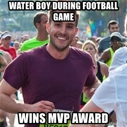 Incredibly photogenic guy - Water boy during football game wins mvp award