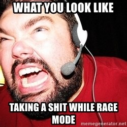 Angry Gamer - what you look like  taking a shit while rage mode