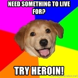 Advice Dog - need something to live for? try heroin!