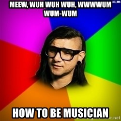 Advice Skrillex - meew, wuh wuh wuh, wwwwum wum-wum how to be musician