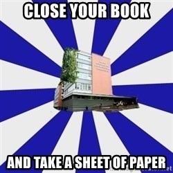 Tipichnuy MGLU - Close your book and take a sheet of paper