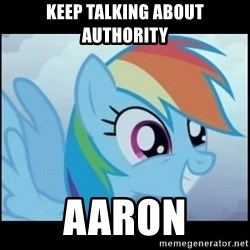 Post Ponies - keep talking about authority aaron