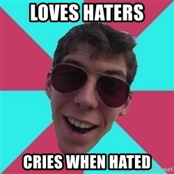 Hypocrite Gordon - loves haters cries when hated