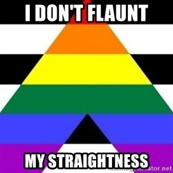 Bad Straight Ally - I don't flaunt My straightness