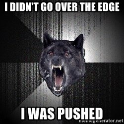 Insanity Wolf - I diDN'T GO OVER THE EDGE i WAS pUSHED