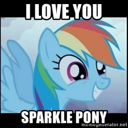 Post Ponies - i love you sparkle pony