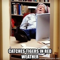sleepy professor - catches tigers in red weather