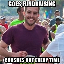 Incredibly photogenic guy - Goes fundraising crushes out every time