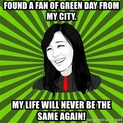green fan - Found a fan of Green Day from my city. My life will never be the same again!