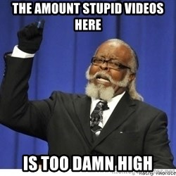 The tolerance is to damn high! - The amount stupid videos here is too damn high