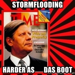 Helmut looking at top right image corner. - STORMFLOODING HARDER AS       DAS BOOT