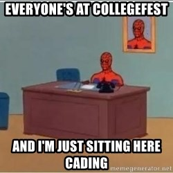 Spiderman Desk - everyone's at collegefest and i'm just sitting here cading