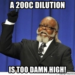 The tolerance is to damn high! - A 200c dilution Is too damn high!