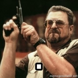 Walter Sobchak with gun - .