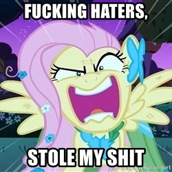 angry-fluttershy - FUCKING HATERS, STOLE MY SHIT
