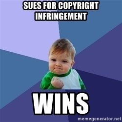 Success Kid - sues for copyright infringement wins