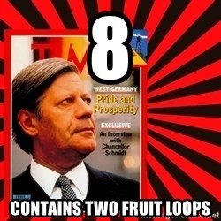 Helmut looking at top right image corner. - 8 CONTAINS TWO FRUIT loops