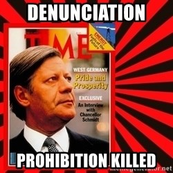 Helmut looking at top right image corner. - Denunciation  Prohibition KILLED