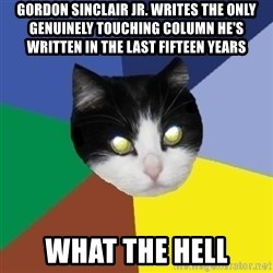 Winnipeg Cat - gordon sinclair jr. writes the only genuinely touching column he's written in the last fifteen years what the hell