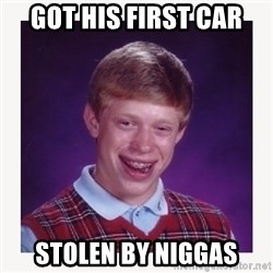 nerdy kid lolz - Got His first car stolen by Niggas
