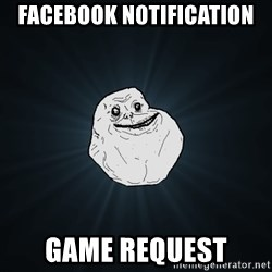 Forever Alone - Facebook notification Game request