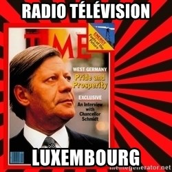 Helmut looking at top right image corner. - Radio Télévision Luxembourg