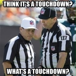 NFL Referees - THink it's a touchdown? What's a touchdown?