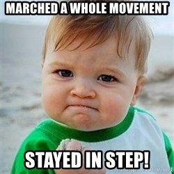 Victory Baby - Marched A Whole Movement Stayed In Step!
