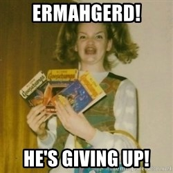 Goosebumps Girl Sings - ErmahgerD! He's giving up!