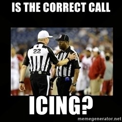 Replacement Ref - is the correct call icing?