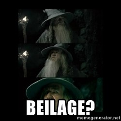 Confused Gandalf - Beilage?