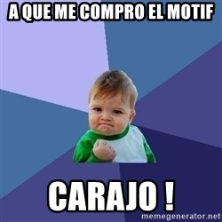 Success Kid - A que me compro el Motif Carajo !