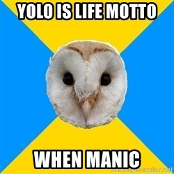 Bipolar Owl - Yolo is life motto WheN manic