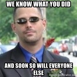 ButtHurt Sean - We know what you did And soon so will everyone else