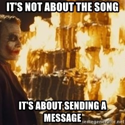 Joker Money - It's not about the song It's about sending a message