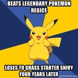 Pokemon Logic  - beats legendary pokemon regice loses to grass starter snivy four years later