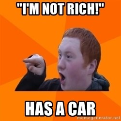 "CopperCab Points - ""I'M not rich!"" has a car"