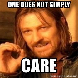 ODN - One Does Not Simply Care