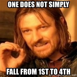 ODN - one does not simply fall from 1st to 4th