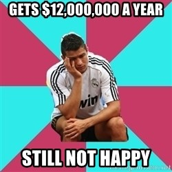 sadcristiano - Gets $12,000,000 a year still not happy