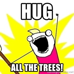 X ALL THE THINGS - Hug All the trees!