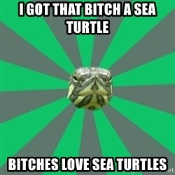 Poker turtle - I got that bitch a sea turtle bitches love sea turtles