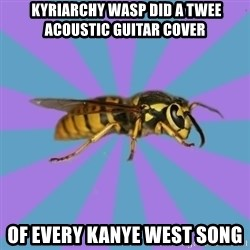 kyriarchy wasp -  kyriarchy wasp did a twee acoustic guitar cover of every Kanye West song