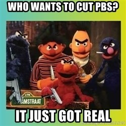 Romney's Sesame Street  - WHO WANTS TO CUT PBS? IT JUST GOT REAL